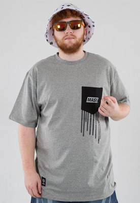 T-shirt Mass Pocket Cover szary