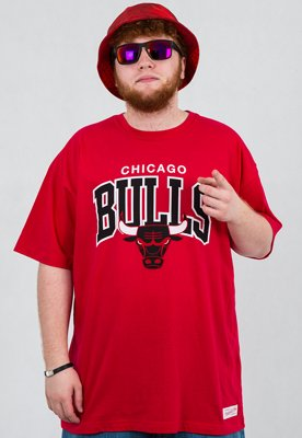 T-shirt Mitchell & Ness NBA Arch Chicago Bulls czerwony