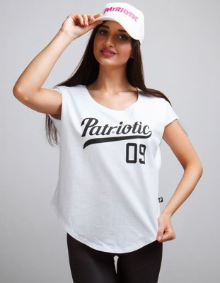 T-shirt Patriotic Athletic Arc biały