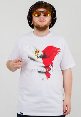 T-shirt Patriotic Eagle New biały