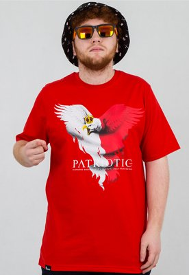 T-shirt Patriotic Eagle New czerwony