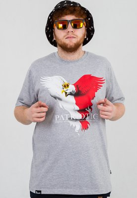 T-shirt Patriotic Eagle New szary