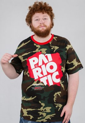 T-shirt Patriotic Map camo