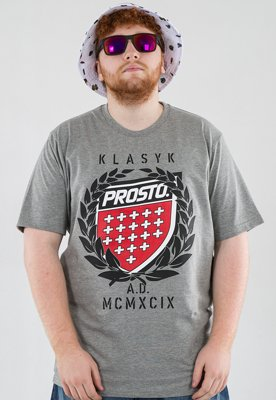 T-shirt Prosto King szary