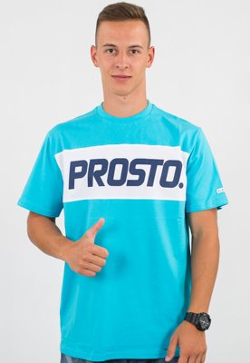 T-shirt Prosto Layer Cake turkusowy
