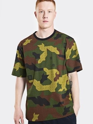T-shirt Stoprocent Baggy Camu zielony