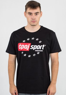 T-shirt Stoprocent Slim CS czarny