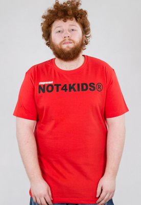 T-shirt Stoprocent Slim NOT4KIDS czerwony