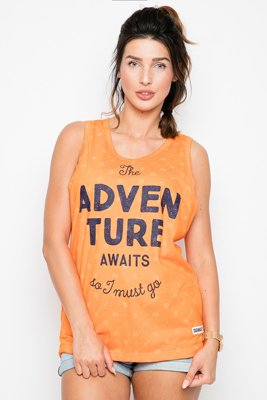 Tank Diamante Wear Adventure Awaits Unisex pomarańczowy