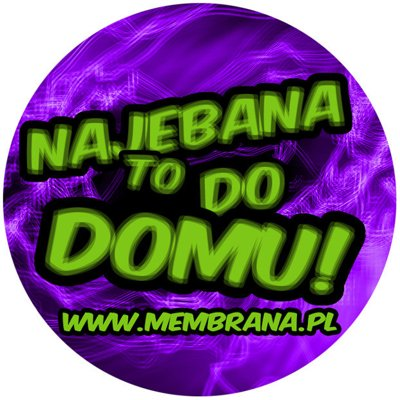 Wlepa Najebana To Do Domu fioletowa