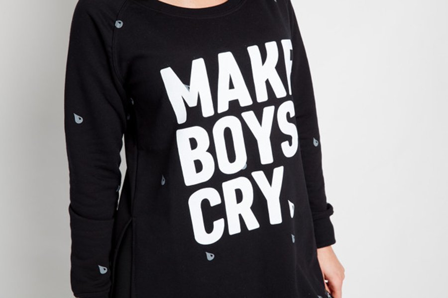 Bluza Diamante Wear Girlhood Long Make Boys Cry czarna