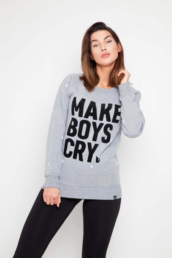 Bluza Diamante Wear Girlhood Make Boys Cry szara