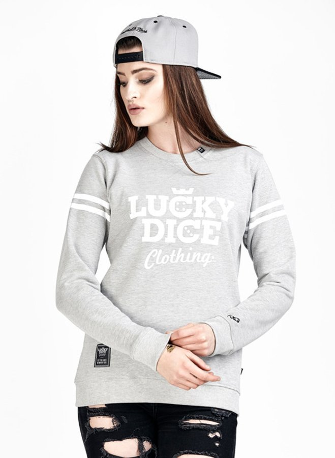 Bluza Lucky Dice Simple Dice szara