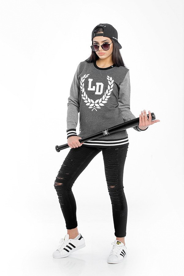 Bluza Lucky Dice Simple Laurel Girl grafitowo szara