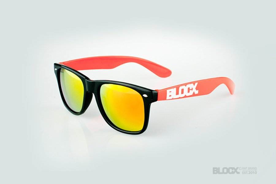 Okulary Blocx Black x Orange Mirror 40