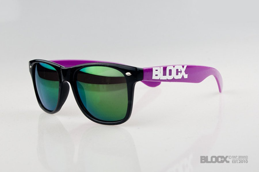 Okulary Blocx Black x Purple Mirror 42