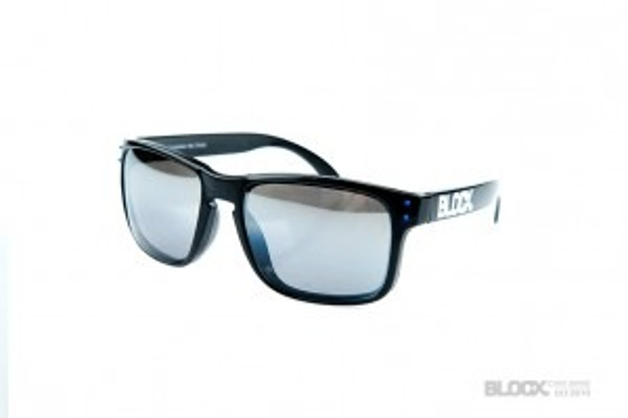 Okulary Blocx Freestyle Black Dots Blue Mirror Silver 2015 73