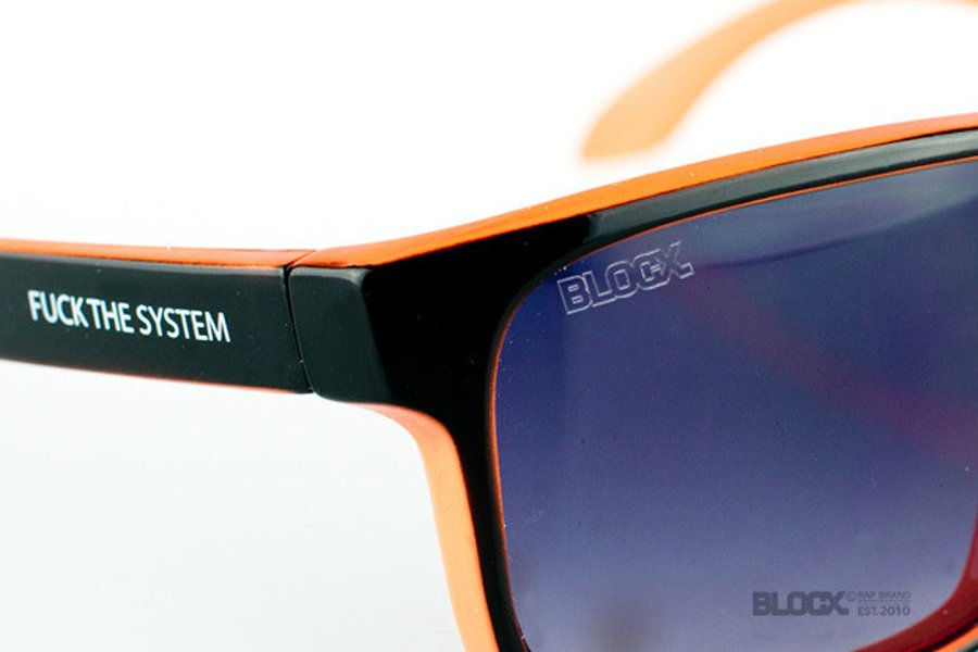 Okulary Blocx Freestyle Black X Orange 33