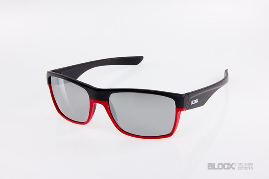 Okulary Blocx Shark Black x Red  Mirror Silver 2015 88