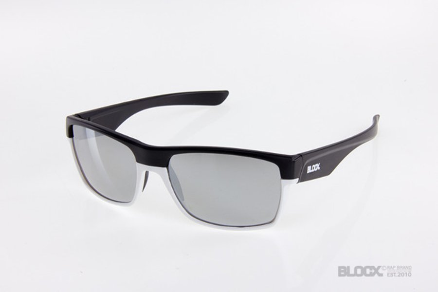 Okulary Blocx Shark Black x White Mirror Silver 2015 89