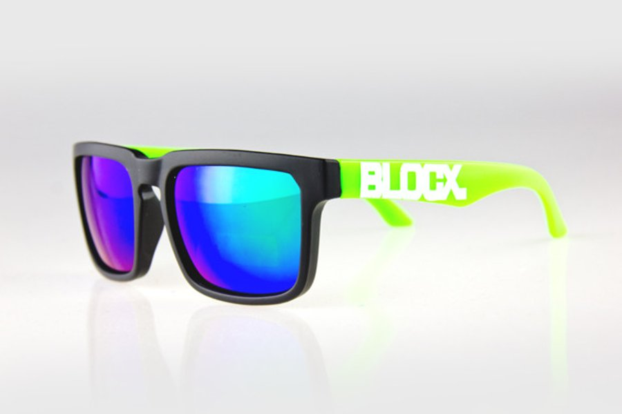 Okulary Blocx Square Black x Green Mirror 166