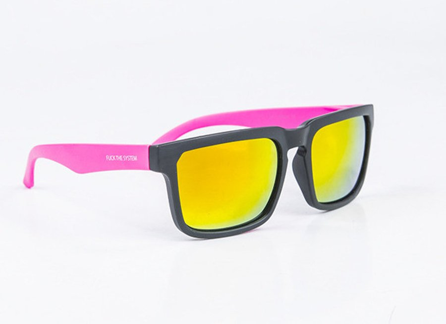 Okulary Blocx Square Black x Pink Mat