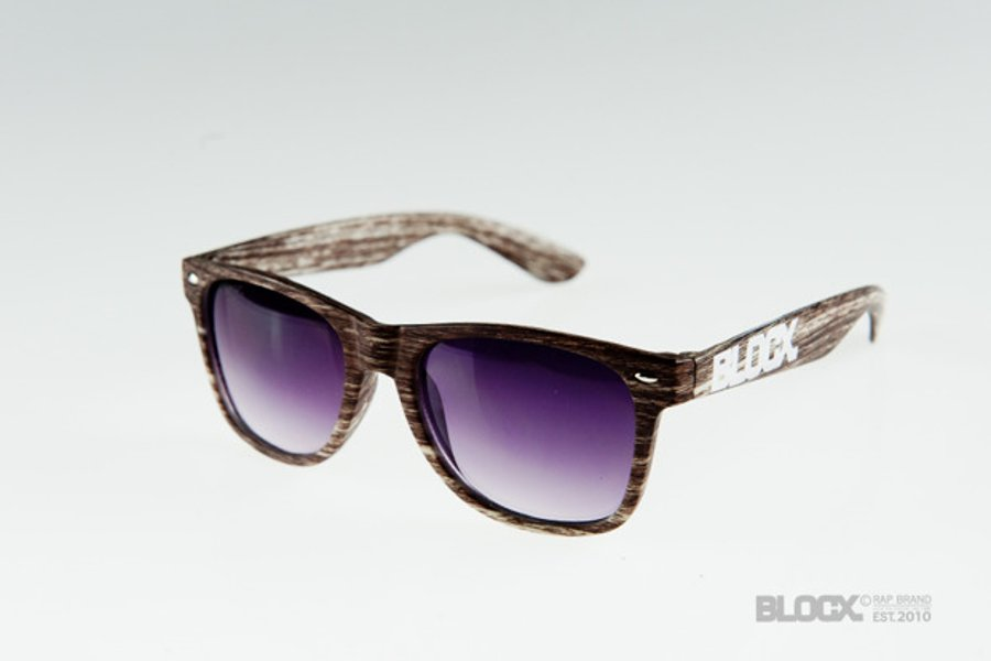 Okulary Blocx Woodlike Dark Brown 108