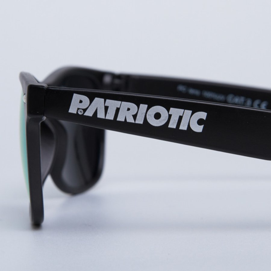 Okulary Patriotic Classic Mat Black Green 5767