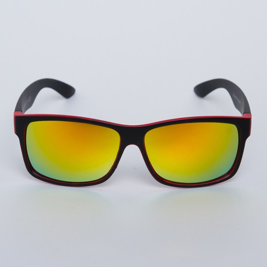 Okulary Patriotic Double Black Red 5678