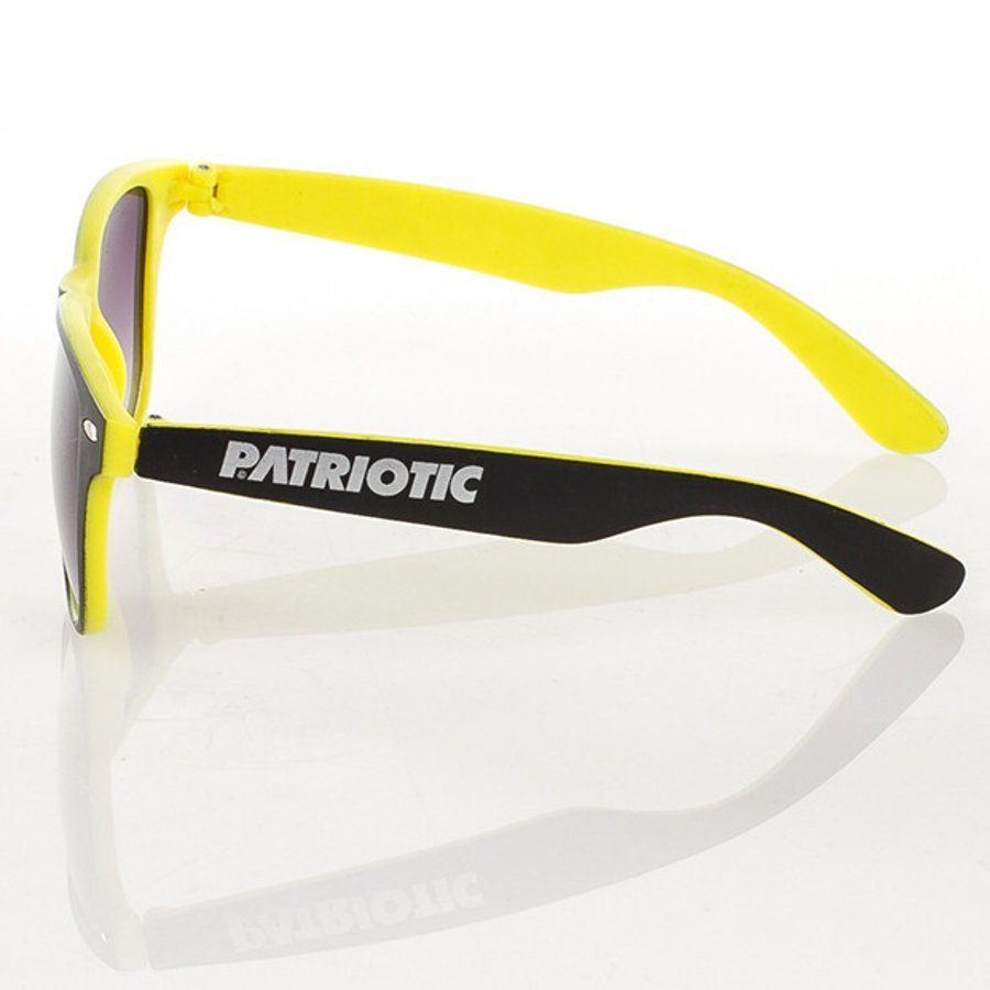 Okulary Patriotic Double Black Yellow 3205