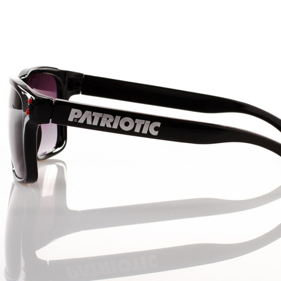 Okulary Patriotic Freestyle Black Red Point 3915