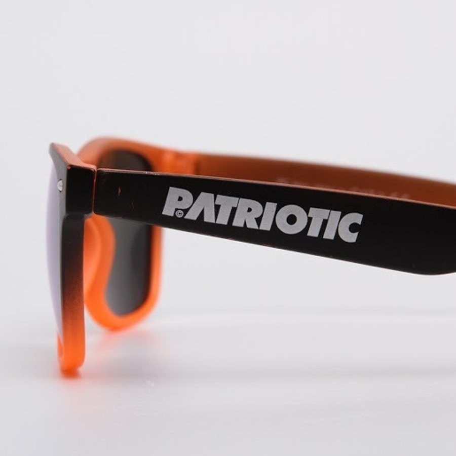 Okulary Patriotic Mat Oprawka Black Orange 6131