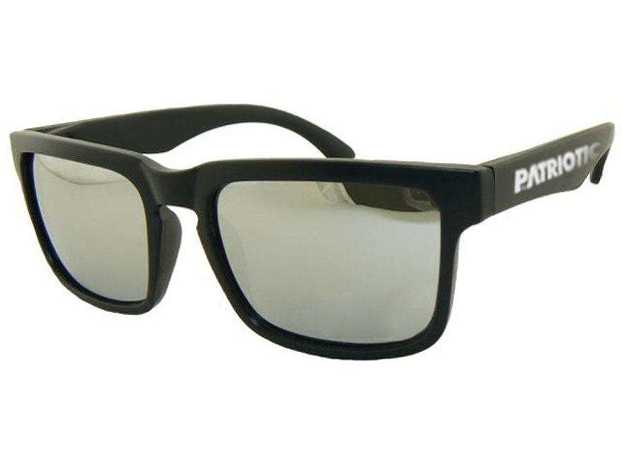 Okulary Patriotic Slim Black Silver 5345