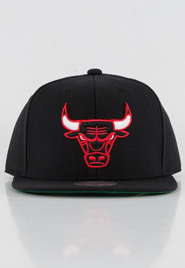 Snap Mitchell & Ness NBA Wool Solid Chicago Bulls czarny