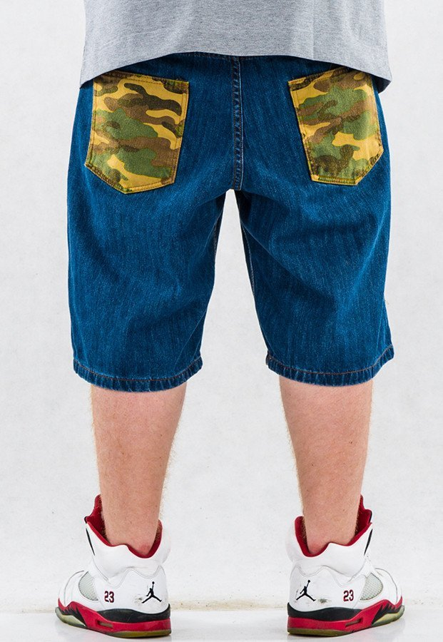 Spodenki Patriotic Camo medium blue
