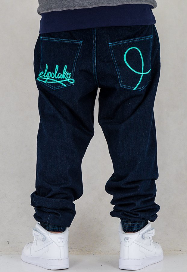 Spodnie El Polako Joggery Written dark blue
