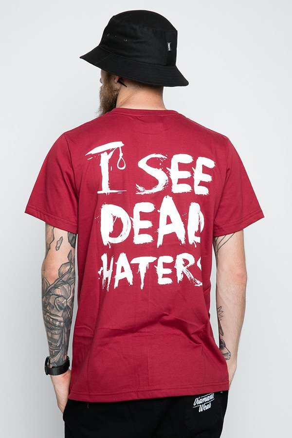 T-shirt Diamante Wear I See Dead Haters bordowy
