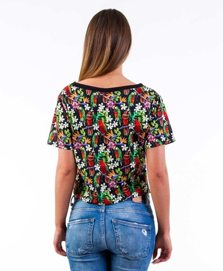 T-shirt Lady Diil Exotic Full Print czarny