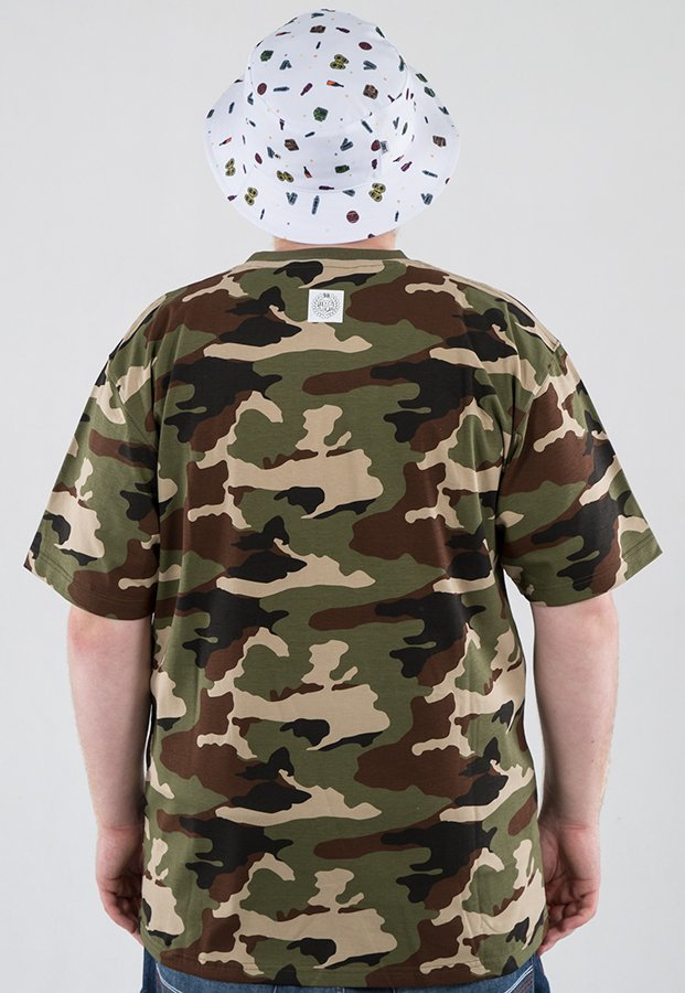 T-shirt Mass Base woodland camo