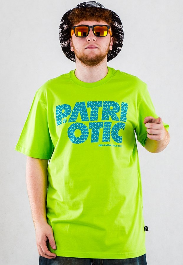 T-shirt Patriotic CLS Fonts limonkowy