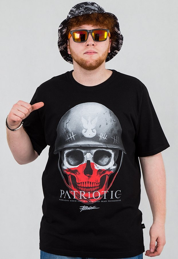 T-shirt Patriotic Skull New czarny