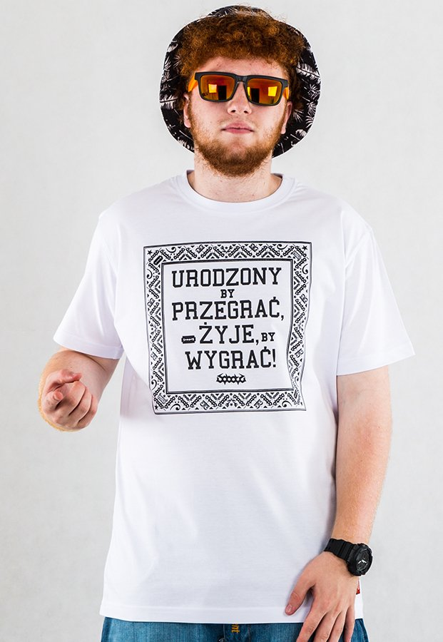 T-shirt Stoprocent Born biały + CD