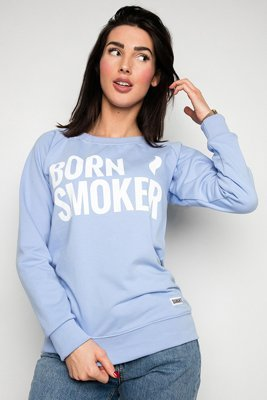 Bluza Diamante Wear Born Smoker niebieska