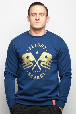 Bluza Diamante Wear Unisex Flight School granatowa