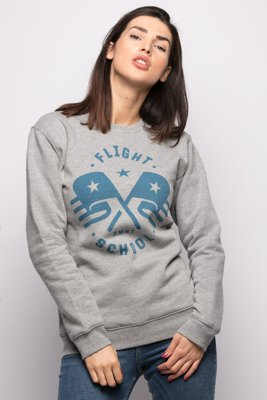Bluza Diamante Wear Unisex Flight School szara
