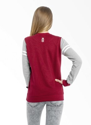 Bluza Lucky Dice New Crewneck Girl bordowa