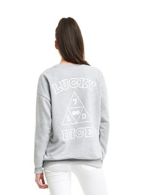 Bluza Lucky Dice Triangle LD szara