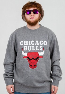 Bluza Mitchell & Ness NBA Logo Chicago Bulls szara