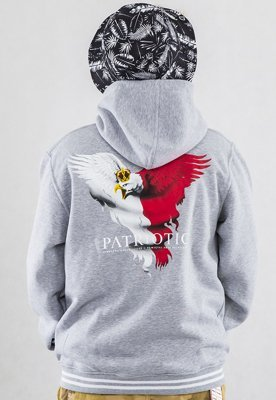Bluza Patriotic Eagle 2 Zip szara