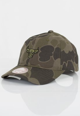 Czapka Flexfit Mitchell & Ness NBA Camo Slouch Chicago Bulls Green
